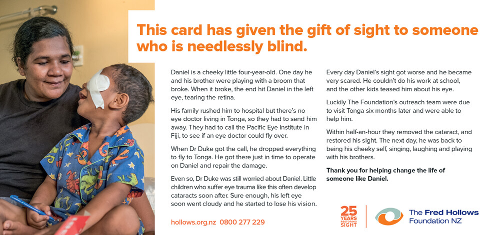 Give back the gift of sight   The Fred Hollows Foundation NZ