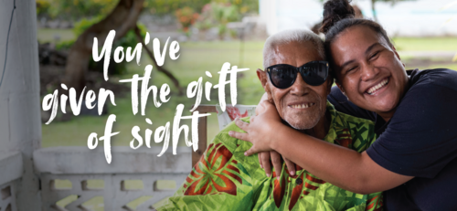 Give the gift of sight with a Poufia e-card